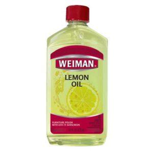 Limpiador de muebles de madera con aceite de limón