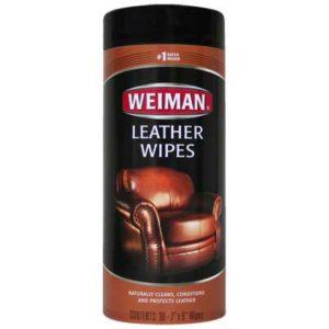 Toallas húmedas para limpiar cuero